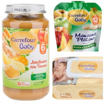 Carrefour baby potitos y compotas ecologicos