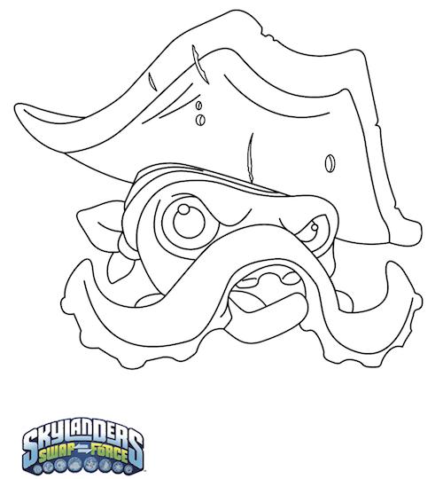 Máscaras de Wash Buckler para carnaval Skylanders