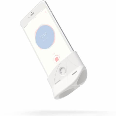Dispositivo Shell de Bellabeat para escuchar los latidos del bebé