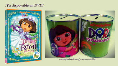 DVD Dora al rescate con premio hucha de Dora Exploradora