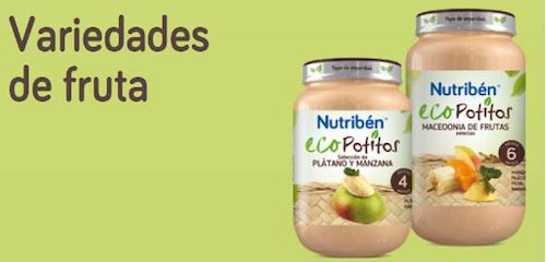 potitos ecologicos para bebes de frutas