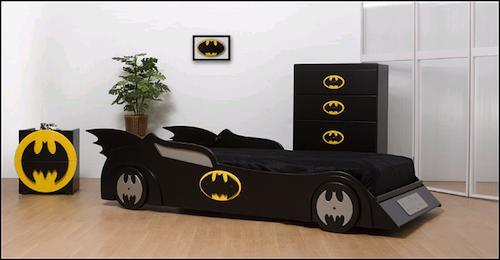 Decoración de habitación infantil de Batman