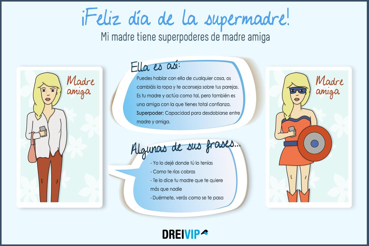 Infografia Dia de la madre superpoder mama amiga