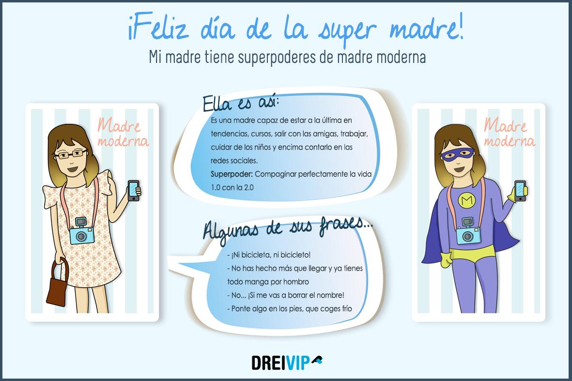 Infografia Dia de la madre superpoder mama moderna