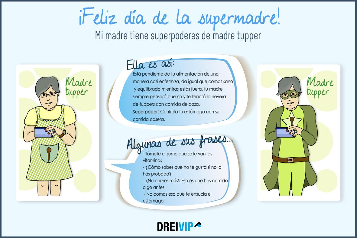 Infografia Dia de la madre superpoder mama tupper