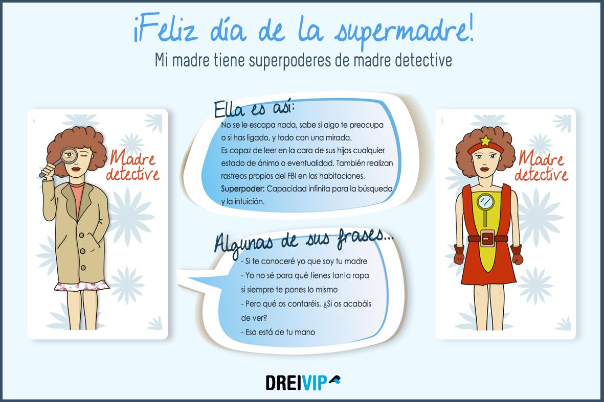 Infografia Dia de la madre superpoder mama
