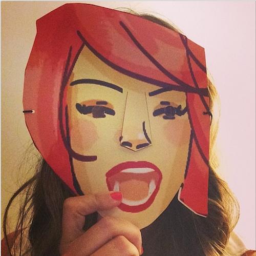 Máscaras de Desmadreando Encuentro MadresBlogueras YO DONA