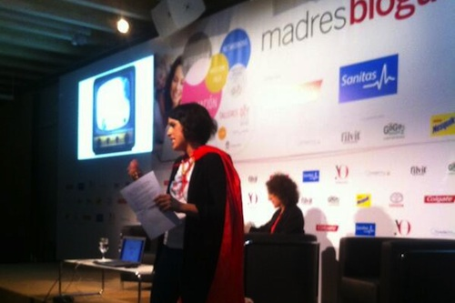 Laura Baena Fundadora del Club de las malasmadres en Encuentro de las Madresblogueras Yo Dona