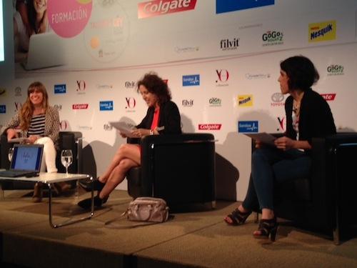 Madresblogueras Laura Baena, Isabel García-Zarza y María Cañal en el Encuentro Yo Dona