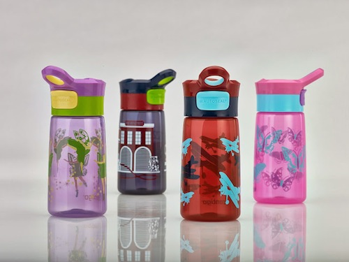 Botellas para niños y niñas higiénicas y seguras con diseño infantil.