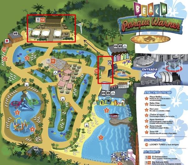 Plano del Parque Warner Beach