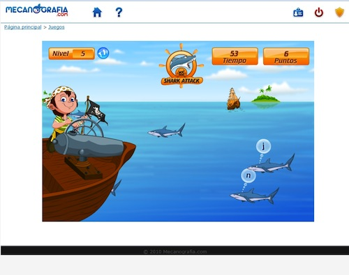 Curso lúdico de mecanografia.com online para niños
