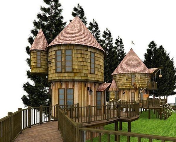 Casa de jardín para juegos infantiles, de los hijos de JK Rowling