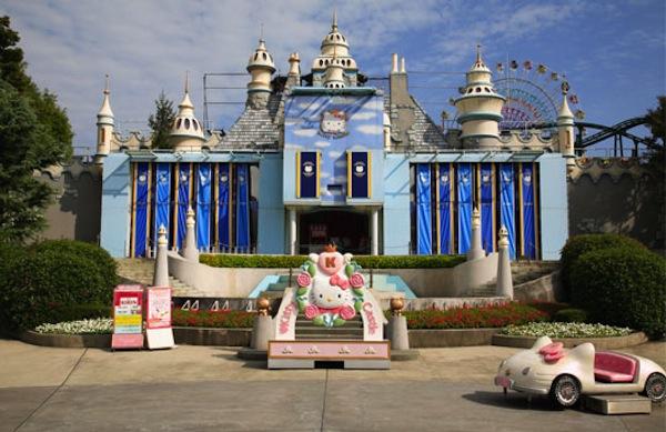 Castillo de Hello Kitty en el parque temático de Hello Kitty