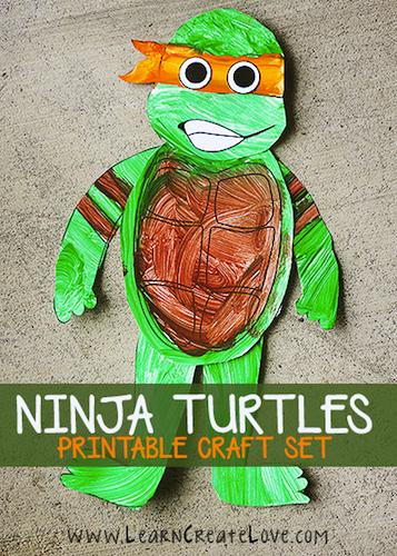 Descarga e imprime los personajes de las Tortugas Ninja