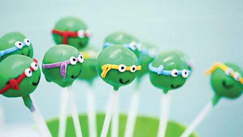 cake pops tortugas ninjas