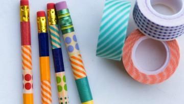 Lápices decorados para empezar el nuevo curso escolar
