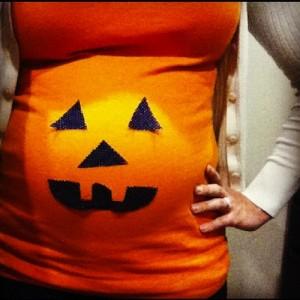 Disfraz de calabaza casero para embarazada