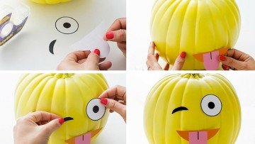 Decorar calabazas para Halloween con divertidos emoticonos
