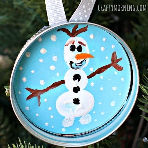 adorno de navidad de olaf frozen