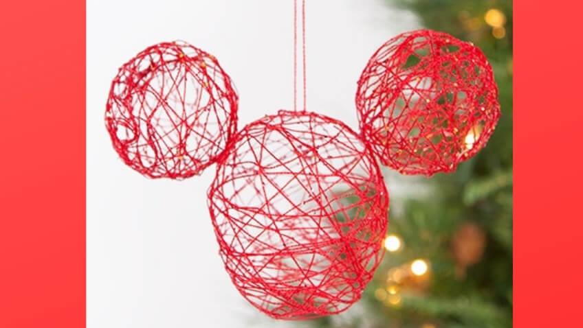 Adorno de Navidad de Mickey para hacer con niños para árbol