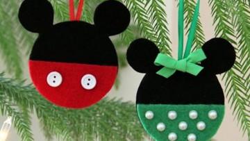 Adornos para el árbol de navidad de Mickey y Minnie para hacer con niños