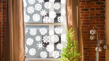 Copos de nieve para recrear un 'Reino de Hielo' en casa