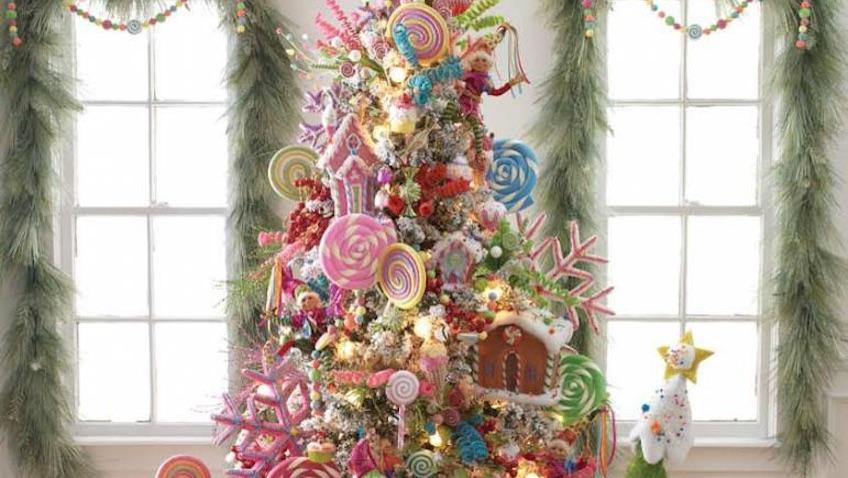 arbol de navidad con caramelos y piruletas