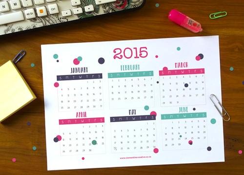 calendarios 2015 imprimir gratis