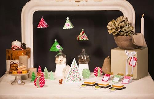 kit imprimible con decoraciones de Navidad