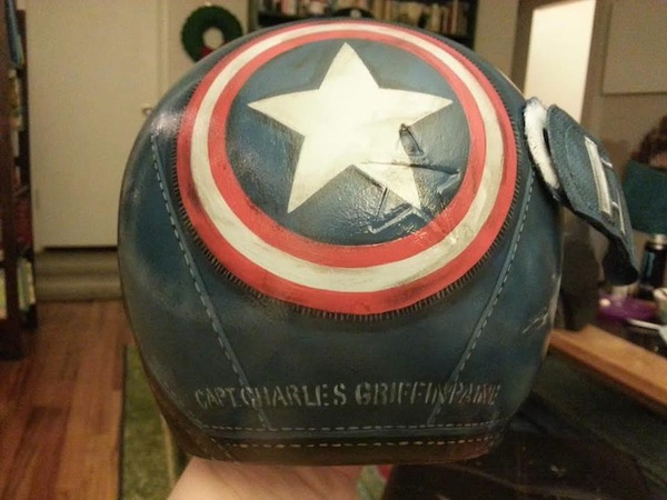 casco plagiocefalia bebe capitan america