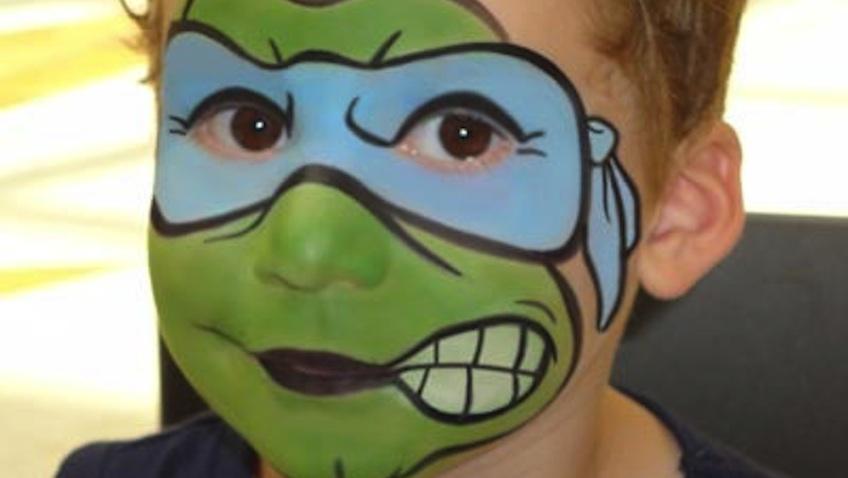 disfraz infantil casero tortuga ninja maquillaje