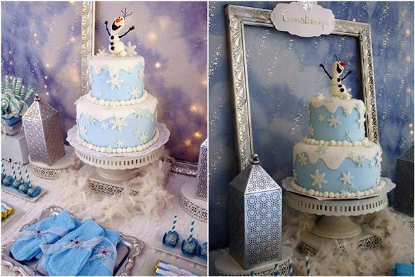 Tarta de cumpleaños de Olaf