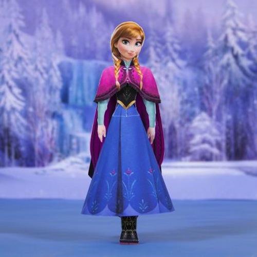 manualidad de Disney Frozen Anna