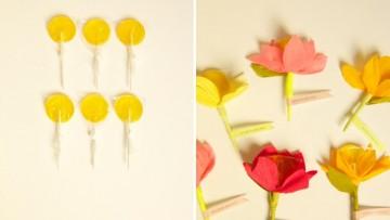 Flores con piruletas para San Valentín