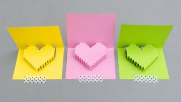 Descarga una fantástica tarjeta 3D para San Valentín