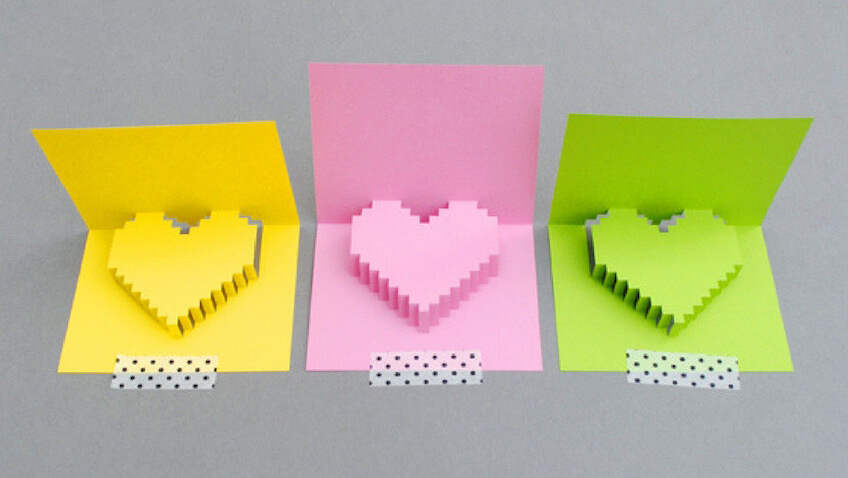 tarjeta para San Valentín 3D para descargar gratis