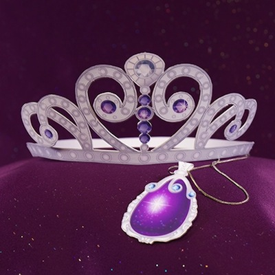 Descarga e imprime una Tiara y amuleto de la Princesa Sofia