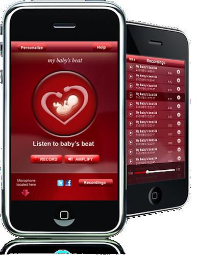 My baby´s beat app para iphone para escuchar los latidos de bebé