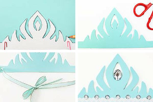 5 Coronas de Disney Frozen para imprimir y decorar en casa