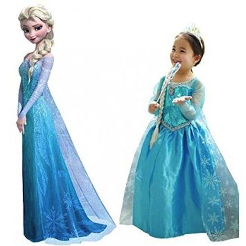 Disfraz de Elsa con corona y varita