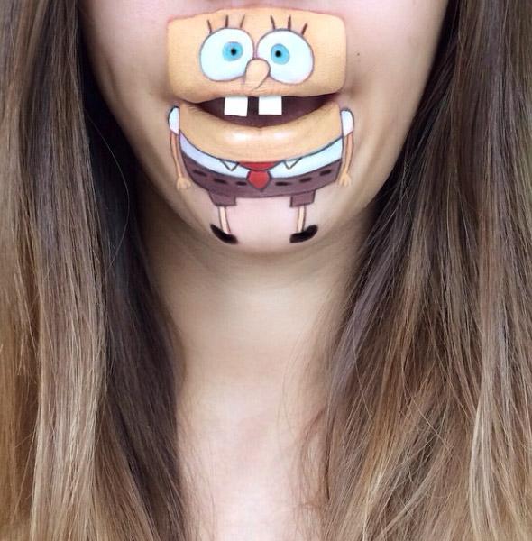 Maquillaje de Bob Esponja
