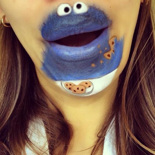 maquillaje monstruo de las galletas