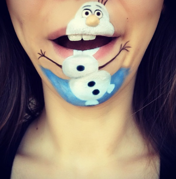 maquillaje olaf frozen