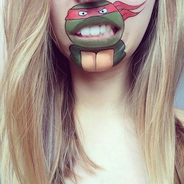 Maquillaje de Tortuga Ninja