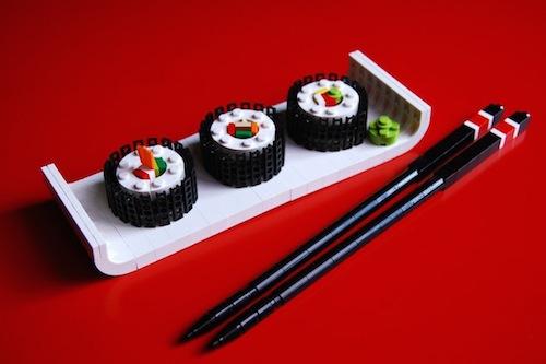Bloques LEGO sushi