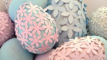 Decorar huevos de pascua con niños