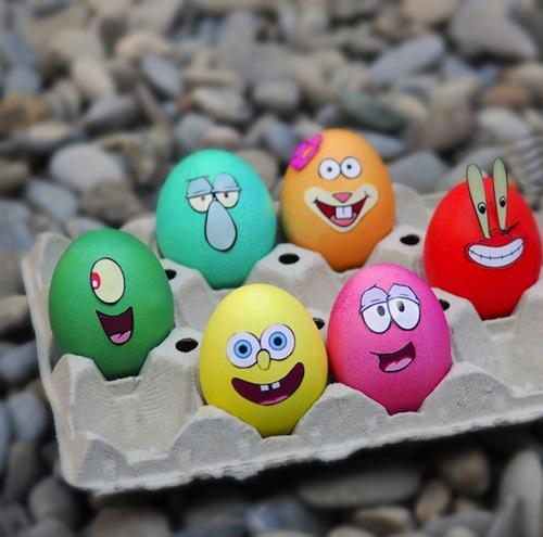 decorar huevos de pascua bob esponja