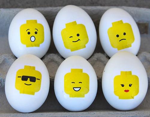 decorar huevos de pascua lego