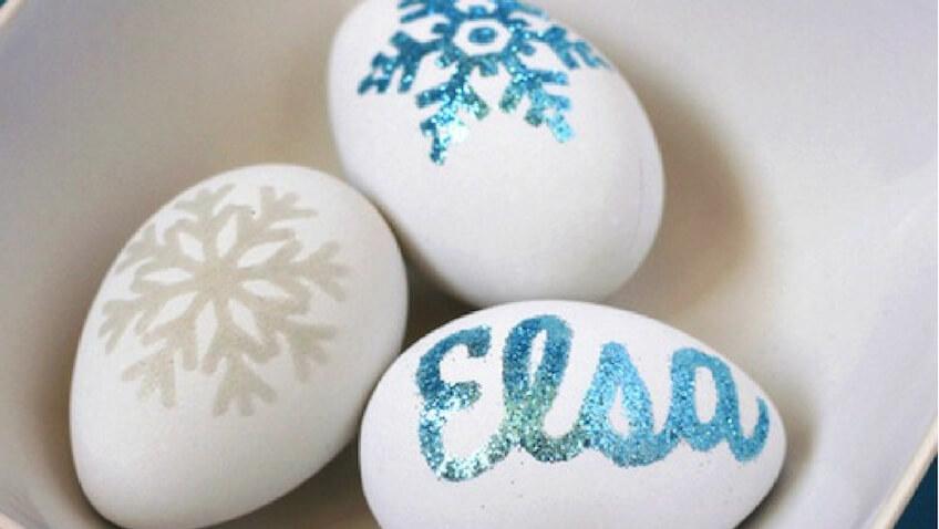 ideas para decorar huevos de pascua con niños para Semana Santa